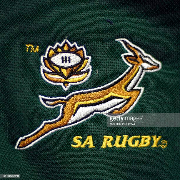 Picture showing the logo of the South African Rugby Union team taken 24 July 2007 in Paris AFP PHOTO MARTIN BUREAU / AFP / MARTIN BUREAU