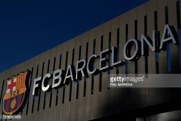 Picture shows a exterior view of the Camp Nou stadium in Barcelona on September 4, 2020. - Lionel Messi confirmed today he will stay at Barcelona,...
