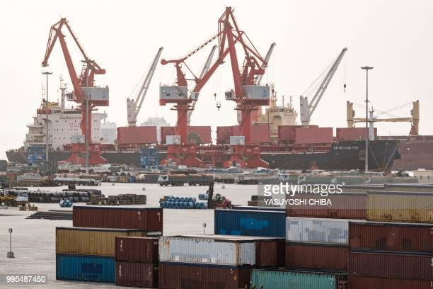 A picture shows a general view of Doraleh MultiPurpose Port in Djibouti on July 4 2018 East Africa's smallest country Djibouti launched on July 5 the...
