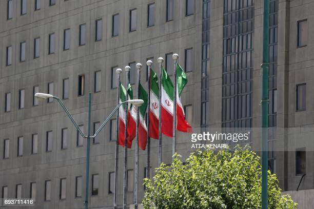 A picture shows a general view of Iranian the parliament building in Tehran on June 8 2017 one day after an attack on the complex Iran said that the...
