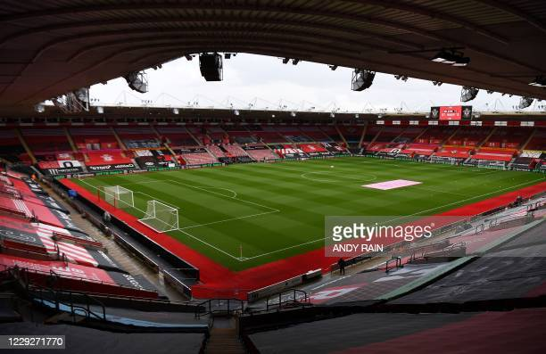 Picture shows a general view of St Mary's Stadium prior to the English Premier League football match between Southampton and Everton in Southampton,...