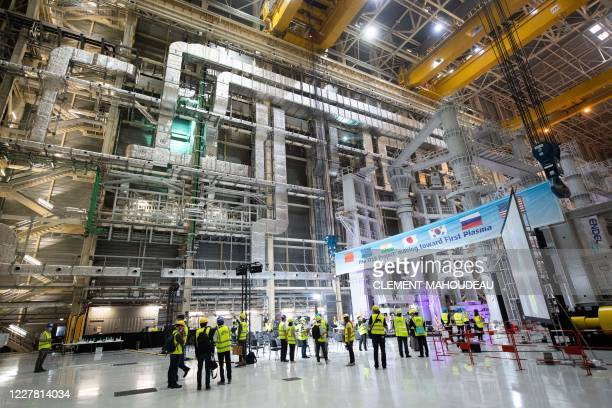"""Picture shows a general view of the assembly hall during the launch of the assembly stage of nuclear fusion machine """"Tokamak"""" of the International..."""