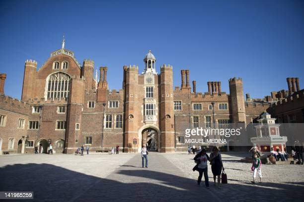 Picture shows a general view of the Base Court at the Hampton Court Palace in East Mosley, south west London on March 27, 2012. AFP PHOTO/ MIGUEL...