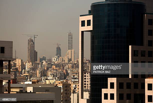 Picture shows a general view Skyline of the Lebanese capital Beirut on September 23 2015 AFP PHOTO/PATRICK BAZ