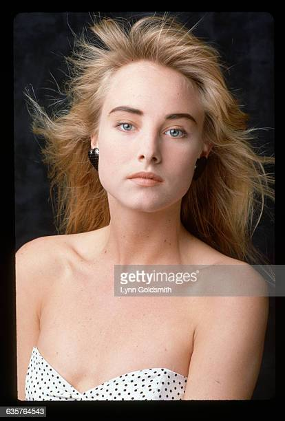 1987 Picture shows a head/shoulders shot of singer Chynna Phillips She is shows wearing a strapless top and her hair is blowing from the wind She is...