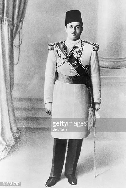 Picture shows a portrait of King Farouk of Egypt wearing his formal uniform Undated photo circa 1940s