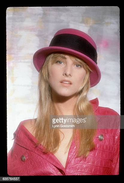 1987 Picture shows a portrait of singer Chynna Phillips She is shown wearing a fuchsia jacket with one side slipping off her shoulder and a matching...