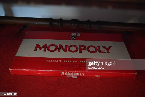 Picture shows a replica Monopoly boardgame set on display inside the Hendrix Flat, a London flat where legendary US singer-songwriter Jimi Hendrix...