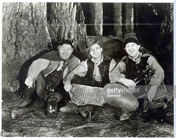 1935 Picture shows a scene from the movie 'A Midsummer Night's Dream' Left to right Frank McHugh James Cagney and Hugh Herbert are the three rusty...