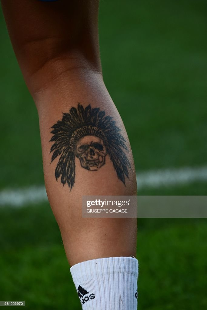 A Picture Shows A Tattoo Of Olympique Lyonnais Forward Ada Hegerberg News Photo Getty Images