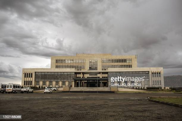 Picture shows a view of the Lesotho kingdom general assembly on February 27, 2015 in Maseru, Lesotho. Basotho people will head for the polls to elect...