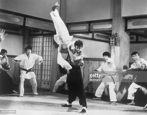 Picture shows actor Bruce Lee taking on the entire membership of a Japanese boxing club from the movie The Chinese Connection' filed 5/27/73