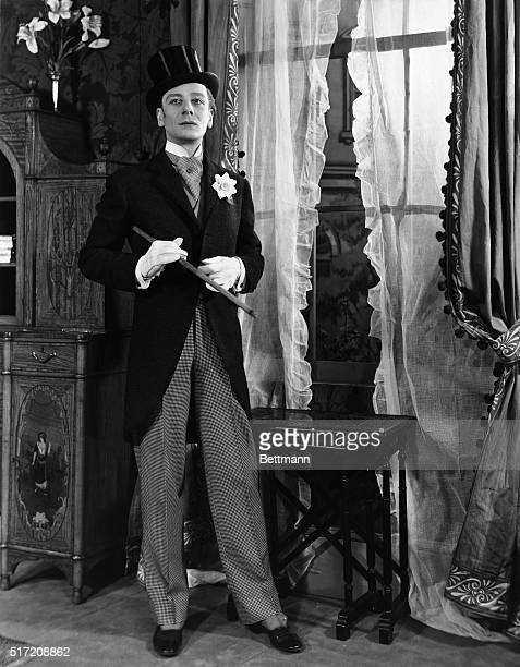 Picture shows actor John Gielgud dressed in a tuxedo in a movie scene Undated photo circa 1920's30's