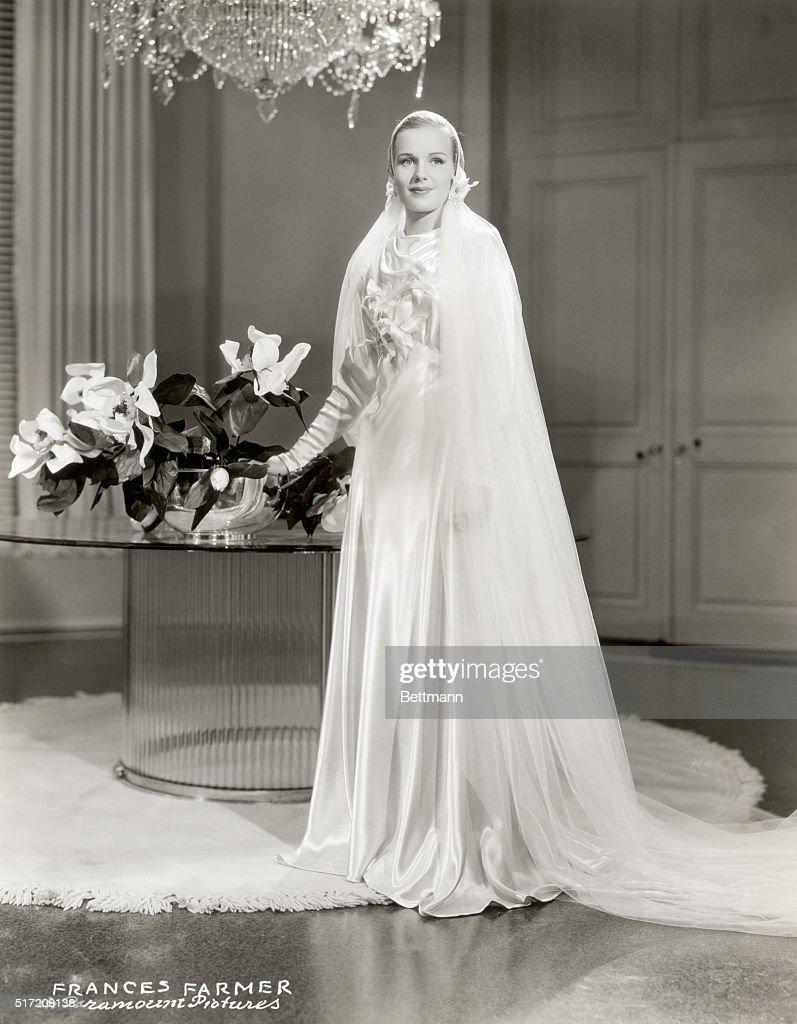 Actress Frances Farmer Wearing A Wedding Dress