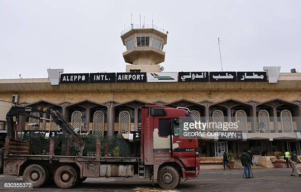 A picture shows Aleppo's International Airport on December 21 2016 as renovation works started to reopen the airfiled to travellers after it was...