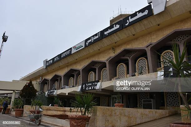 A picture shows Aleppo's International Airport on December 21 2016 Reahabilitation works started to reopen the airport to travelers after it was...