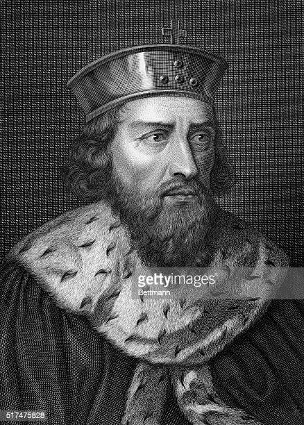 Picture shows Alfredus Magnus King of Wessex He put the Angles and Saxons under submission and ruled all of England which was not under Danish...