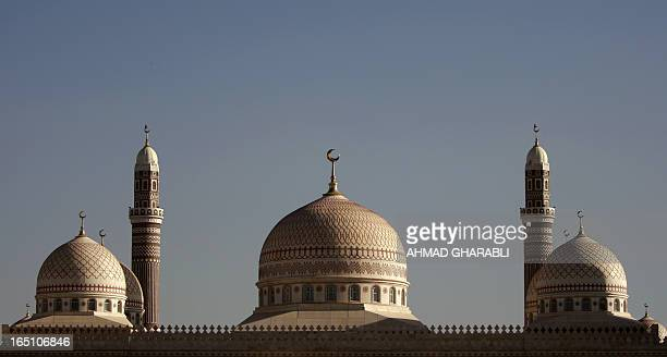 A picture shows AlSaleh mosque in the Yemeni capital Sanaa on January 7 2010 US military intervention in Yemen to help fight AlQaeda militants could...
