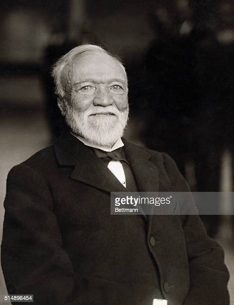Picture shows American Industrialist Andrew Carnegie