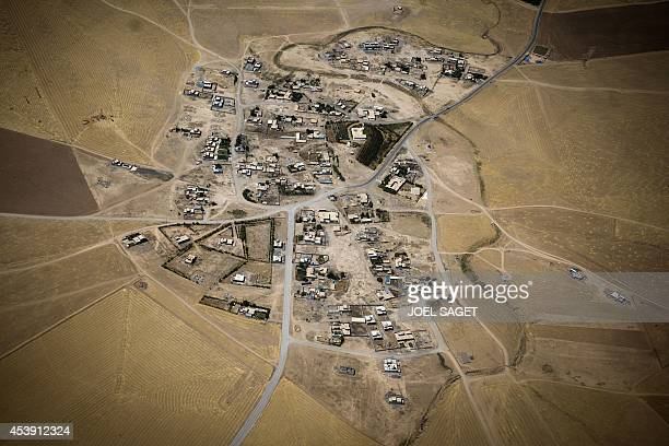 A picture shows an aerial view near Arbil in northern Iraq on August 21 2014 The United States sought to maintain pressure on jihadist militants in...