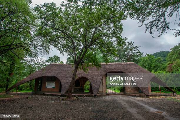 A picture shows an entrance gate to Liwonde National Park in southern Malawi on December 27 2017 African Parks conservation organisation is carrying...