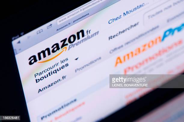 A picture shows an Ipad with an 'Amazon' web page on November 13 2012 in Paris French tax authorities have demanded $252 million in back taxes and...