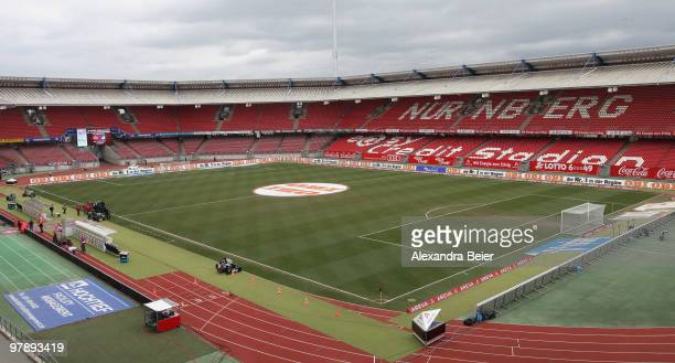 Picture shows an overview of the Easy Credit Stadium on March 20, 2010 in Nuremberg, Germany.