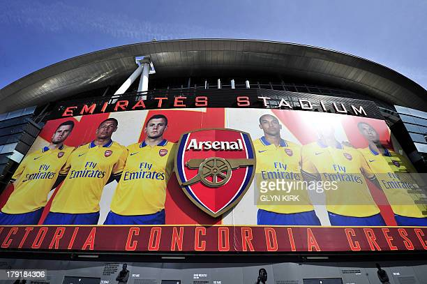 A picture shows Arsenal's Emirates Stadium before the English Premier League football match against Tottenham Hotspur in London on September 1 2013...