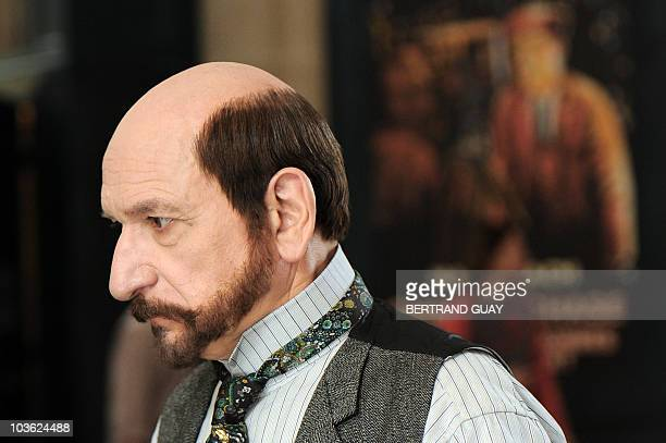 Picture shows British actor Sir Ben Kingsley as French early cinema master Georges Melies at AtheneeLouis Jouvet theater during the film shoot of the...