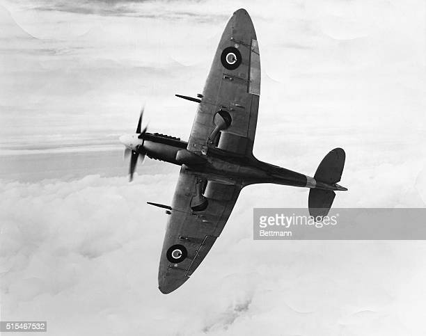 Picture shows British Spitfire during World War II The Famed fighter of the Battle of Britain Undated photo circa 1940s