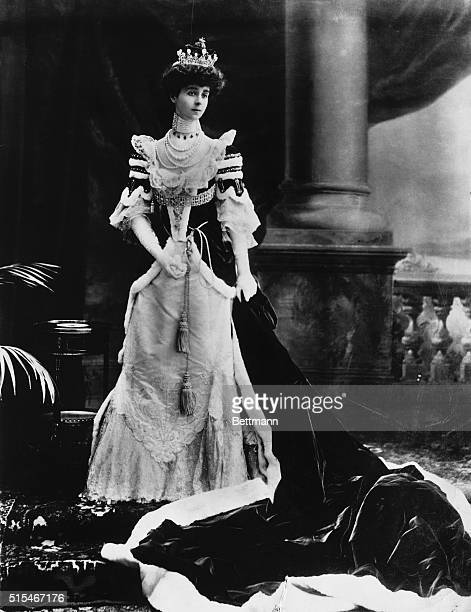 Picture shows Consuelo Vanderbilt the 9th Duchess of Marlborough dressed for the coronation of Edward VII