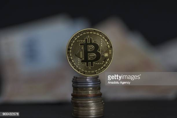 A picture shows Cryptocurrency Bitcoin in Ankara Turkey on January 2 2018