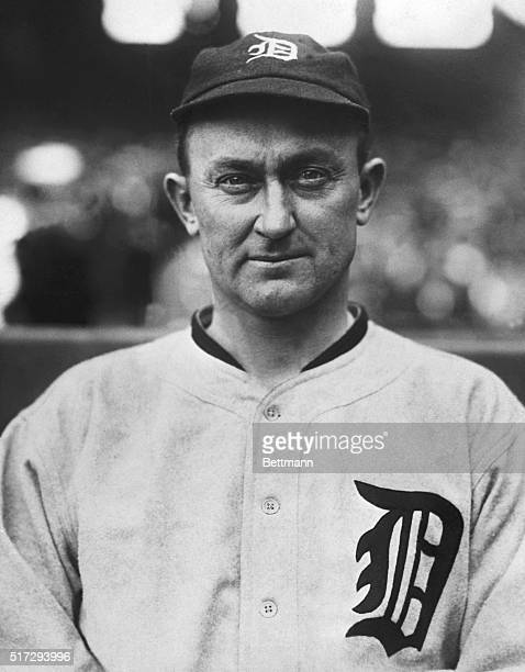 Picture shows famed Detroit Tiger, Ty Cobb.
