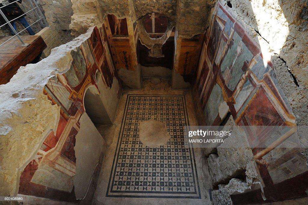 ITALY-POMPEII-DOMUS-ARCHAEOLOGY : News Photo