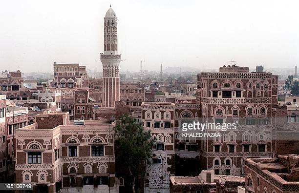 Picture shows general view taken 27 July 2001 of the old city of Sanaa, the capital of Yemen. AFP PHOTO/Khaled FAZAA