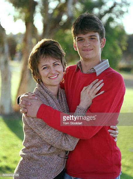 Picture shows Gordana Burazor who was photographed with her baby son Andre in an iconic 1992 picture by Getty Images photographer Tom Stoddart during...
