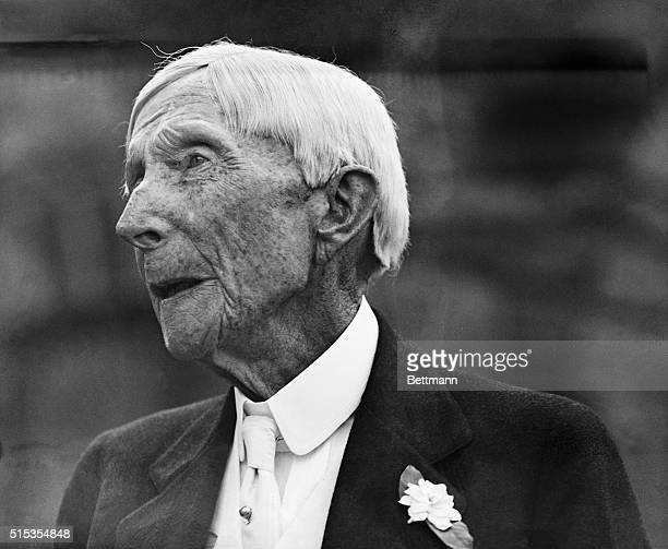 7/9/1933 Picture shows John D Rockefeller Sr the day after his 94th birthday