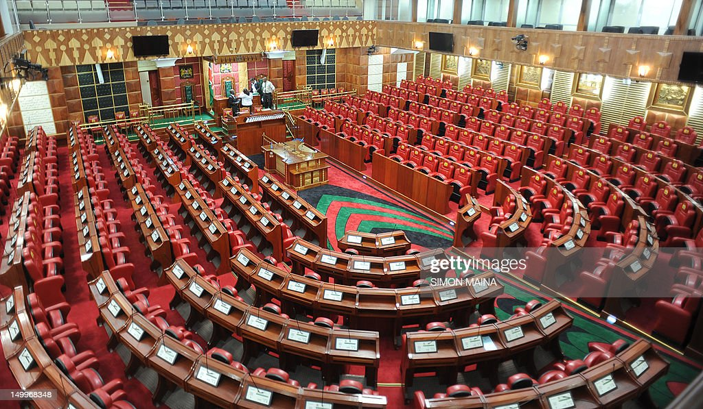 A picture shows Kenya's parliament with  : News Photo
