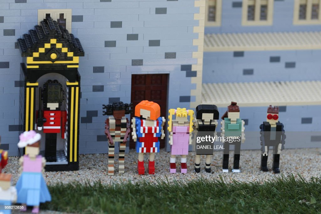 A picture shows Lego models of British pop band Spice Girls