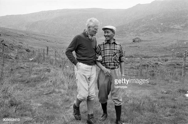 Picture shows Lord Hunt and Sherpa Tensing Everest Men at Reunion Picture taken at The PenyGrwd Training base at Capel Curig north Wales It is 20...