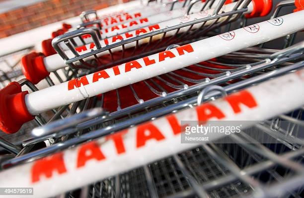 Picture shows Matalan branded trolleys