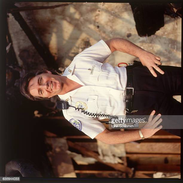 1992 Picture shows musician Bobby Sherman posing with his arms akimbo in a EMS uniform