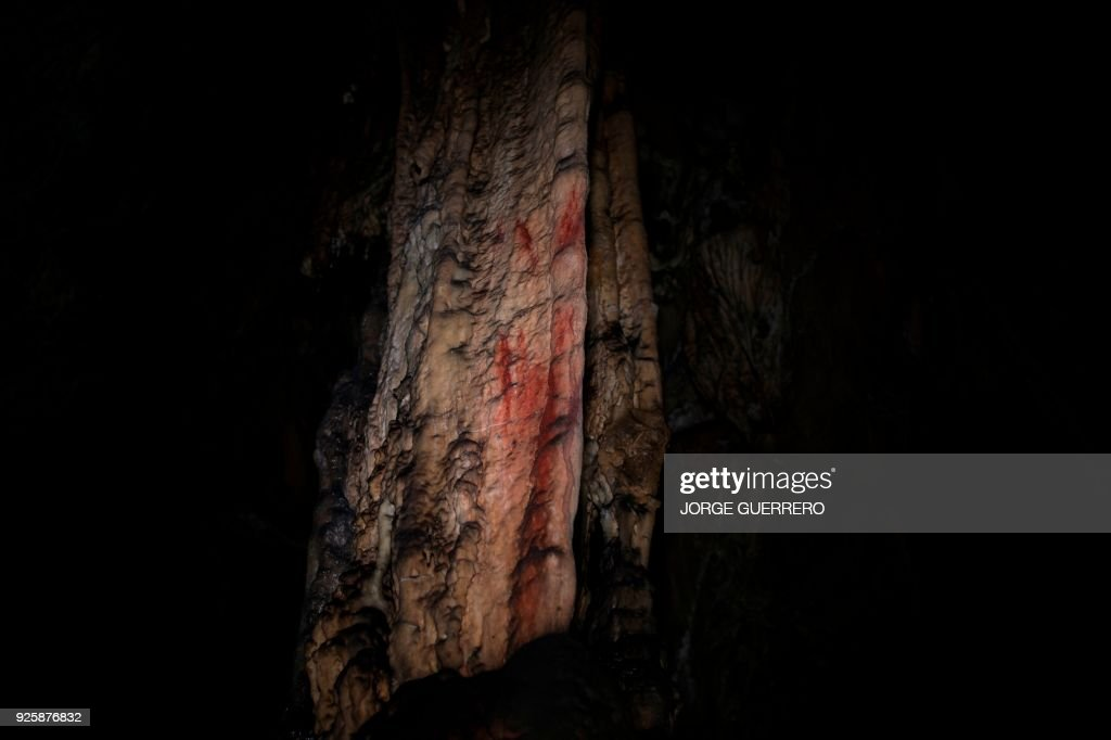 SPAIN-ARCHAEOLOGY-CAVE-PAINTING : News Photo