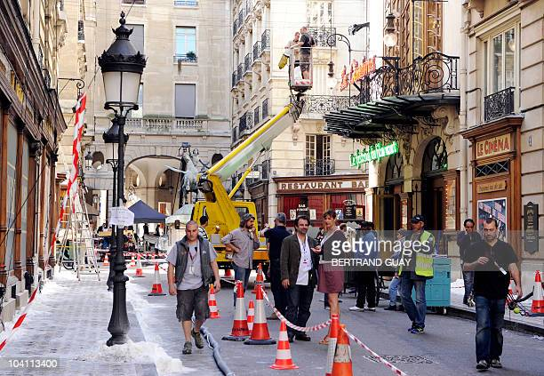 Picture shows part of the film set of 'The Invention of Hugo Cabret' directed by US Martin Scorsese at AtheneeLouis Jouvet theater on August 24 2010...