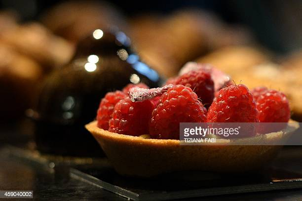 A picture shows pastries in shop on November 14 2014 in Rome AFP PHOTO / TIZIANA FABI