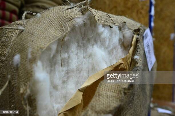 A picture shows raw cashmere wool at the Italian fashion group Loro Piana's plant in Roccapietra on September 9 2013 AFP PHOTO / GIUSEPPE CACACE