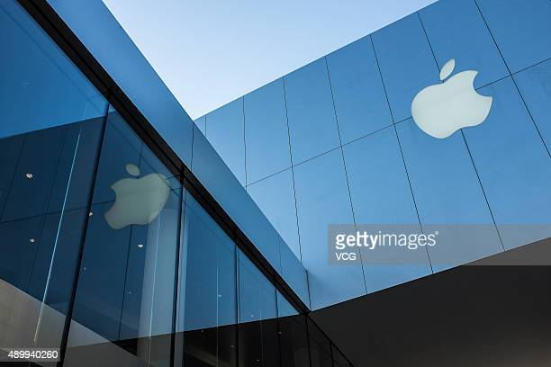 Picture shows Sanlitun Apple store on September 25 2015 in Beijing China Apple launched the new iPhone 6s and iPhone 6s Plus on September 25 in 12...