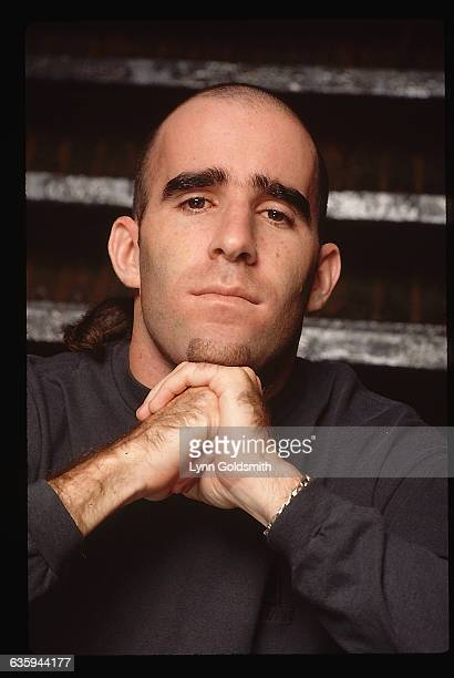 1994 Picture shows Scott Ian member of the band Anthrax posing with his hands placed below his chin