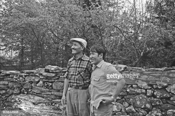 Picture shows Sherpa Tensing ( and Sherpa Gombu, the man who has been to Everest Twice Everest Men at Reunion Picture taken at The Pen-y-Grwd...