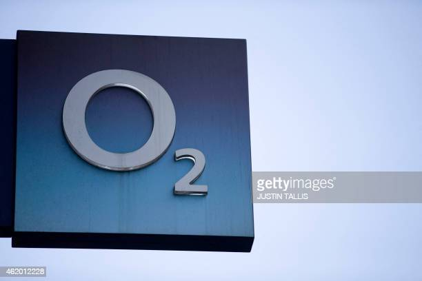 A picture shows siganage outside a branch of an O2 store in central London on Janurary 23 2015 Hong Kong tycoon Li KaShing's Hutchison Whampoa said...